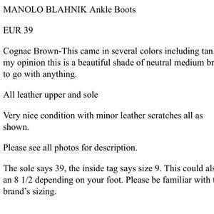 Manolo Blahnik Shoes - 🥳HP!💞 MANOLO BLAHNIK SIZE 39 ANKLE BOOTS BOOTIES